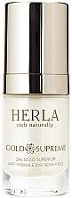 Przeciwzmarszczkowy żel pod oczy ze złotem - Herla Gold Supreme 24K Gold Superior Anti-Wrinkle Eye Repair Gel — фото N1