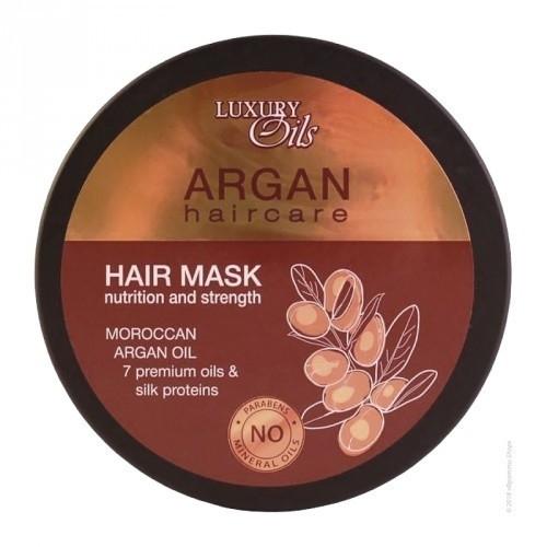 Maska do włosów Odżywienie i moc włosów z dodatkiem olejów arganowego i makadamia - Luxury Oils — фото N1