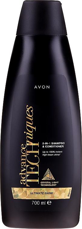 Szampon i odżywka 2 w 1 - Avon Advance Techniques Ultimate Shine 2-in-1 Shampoo & Conditioner — фото N1