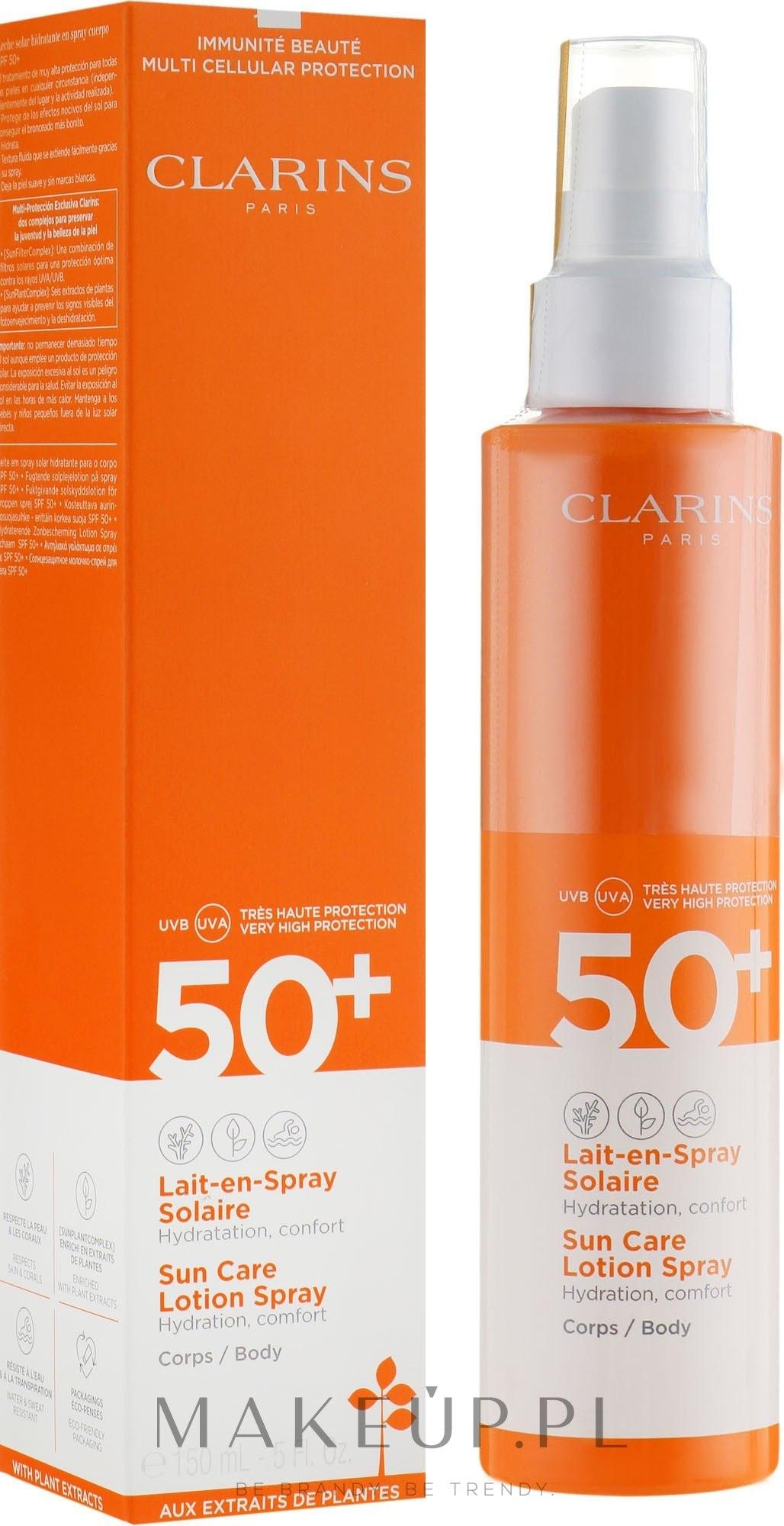 Przeciwsłoneczny balsam w sprayu do ciała SPF 50+ - Clarins Sun Care Lotion Spray — фото 150 ml