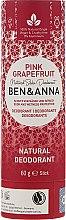 Dezodorant na bazie sody w sztyfcie Różowy grejpfrut (tubka) - Ben & Anna Natural Soda Deodorant Paper Tube Pink Grapefruit — фото N1