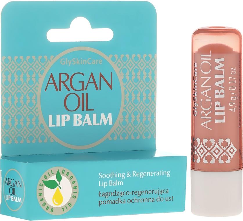 Łagodząco-regenerująca pomadka ochronna do ust - GlySkinCare Argan Oil Lip Balm