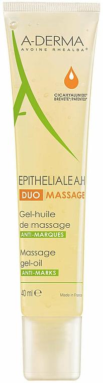 Żelowy olejek do masażu przeciw bliznom i rozstępom - A-Derma Epitheliale AH Massage — фото N1