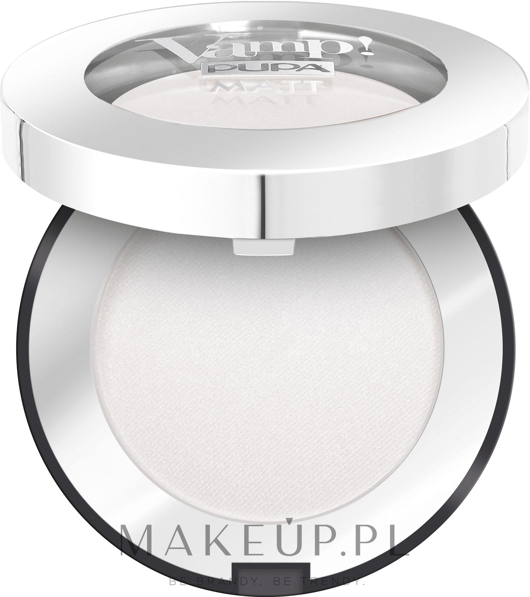 Matowy cień do powiek w kompakcie - Pupa Vamp! Matt Eyeshadow — фото 010 - White Chalk