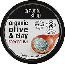 Kup Wygładzający scrub do ciała Niebieska glinka - Organic Shop Body Scrub Organic Olive & Clay