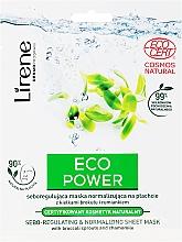 Kup Seboregulująca maska normalizująca na płachcie z kiełkami brokułu i rumiankiem - Lirene Eco Power Sebo-Regulating and Normalizing Sheet Mask