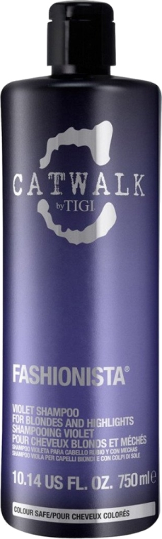 Szampon chroniący kolor włosów blond - Tigi Catwalk Fashionista Violet Shampoo — фото N3