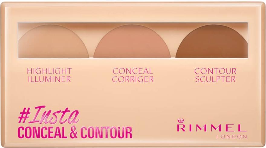 Zestaw do konturowania twarzy - Rimmel Insta Conceal & Contour Palette