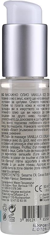 Olejek do masażu Lody waniliowe - Sezmar Collection Love Massage Oil Vanilla Ice Cream — фото N5