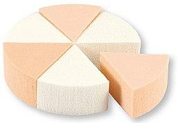 Kup Gąbki do makijażu, 35821, białe + beżowe, 6 szt. - Top Choice Foundation Sponges