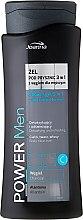Kup Detoksykujący żel odświeżający pod prysznic z węglem dla mężczyzn do ciała, twarzy i włosów - Joanna Power Men