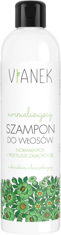 Normalizujący szampon do włosów normalnych i przetłuszczających się - Vianek Seria zielona energetyzująca
