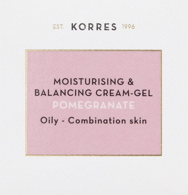 Nawilżający krem z granatem do skóry tłustej i mieszanej - Korres Pomegranate Moisturising & Balancing Cream-Gel Oily-Combination Skin — фото N4