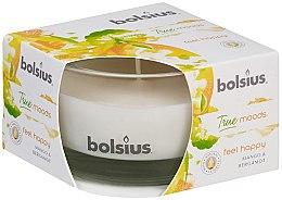 Kup Świeca zapachowa w szkle Mango i bergamotka, 50/80 mm - Bolsius True Moods Feel Happy Candle