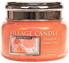 Kup Świeca zapachowa w słoiku - Village Candle Grapefruit Turmeric Tonic Glass Jar