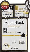 Kup 3-etapowa maska oczyszczająca na tkaninie do twarzy - Rainbow L'Affair Aqua Black 3-Steps Skin Renewal Face Mask