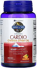 Kup Olej rybny Omega-3 w kapsułkach o smaku pomarańczowym - Garden of Life Minami Cardio Omega-3 Fish Oil