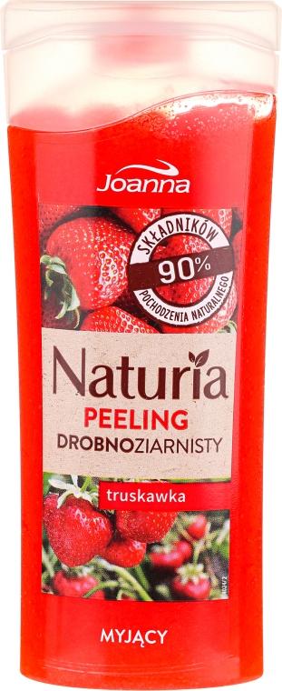 Myjący peeling drobnoziarnisty Truskawka - Joanna Naturia Peeling