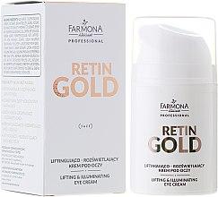 Kup Liftingująco-rozświetlający krem pod oczy - Farmona Professional Retin Gold Lifting & Illuminating Eye Cream