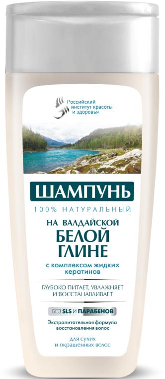 100% naturalny szampon na bazie wałdajskiej glinki białej z kompleksem płynnej keratyny - FitoKosmetik