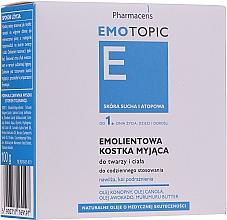 Kup Emolientowa kostka myjąca do twarzy i ciała od 1. dnia życia dla dzieci i dorosłych - Pharmaceris E Emotopic Soap