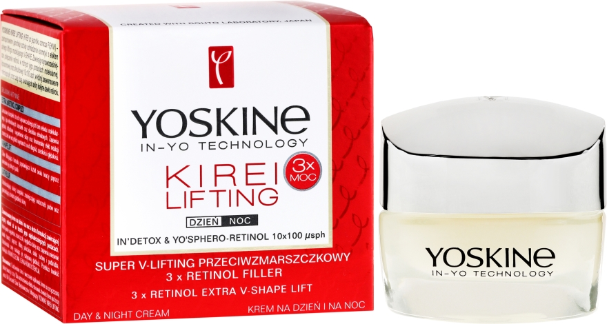 Liftingujący krem na dzień i na noc Potrójna moc retinolu - Yoskine Kirei Lifting Super-V Lifting 3 x Retinol Filler