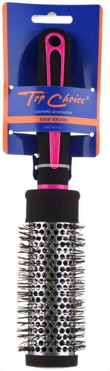 Okrągła szczotka do włosów 37 mm, 63718 - Top Choice Neon Black and Pink — фото N1