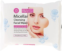Kup Oczyszczające chusteczki micelarne do demakijażu - Beauty Formulas Micellar Cleansing Facial Wipes