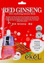 Kup Nawilżająca maska na tkaninie do twarzy z ekstraktem z czerwonego żeń-szenia - Ekel Red Ging Seng Ultra Hydrating Essence Mask