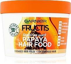 Kup Naprawcza maska do włosów zniszczonych Papaja - Garnier Fructis Papaya Hair Food Mask