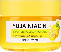 Rozjaśniająca maska do twarzy na noc - Some By Mi Yuja Niacin Brightening Sleeping — фото N2