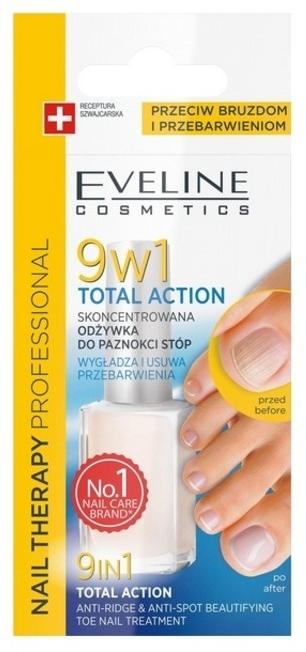 Skoncentrowana odżywka do paznokci stóp 9 w 1 - Eveline Cosmetics Nail Therapy Total Action 9in1