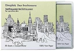 Kup Chusteczki matujące do twarzy z zieloną herbatą - Too Cool For School Dinoplatz Dear Brachiosaurus Blotting Paper Green Tea