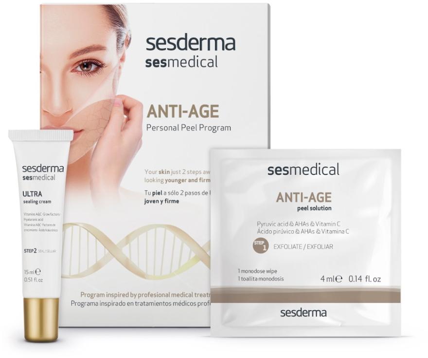 Domowa pielęgnacja przeciwstarzeniowa - SesDerma Laboratories Sesmedical Anti-Age Personal Peel Program (cr 15 ml + 4 x wipe 4 ml) — фото N1
