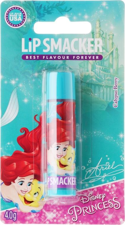 Połyskujący balsam do ust Jagoda - Lip Smacker Disney Princess Ariel Calypso Berry Lip Balm — фото N1