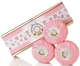 Kup Zestaw perfumowanych mydeł w kostce Róża - Roger & Gallet Rose Perfumed Soaps (soap/3x100g )