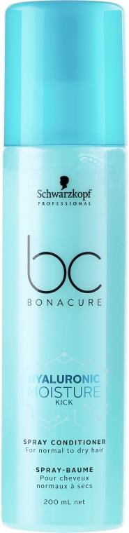 Silnie nawilżająca odżywka w sprayu - Schwarzkopf Professional Bonacure Hyaluronic Moisture Kick Spray Conditioner