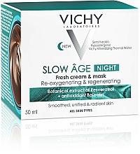 Krem i maska do twarzy na noc Dotlenienie i regeneracja - Vichy Slow Âge Night Cream & Mask — фото N6